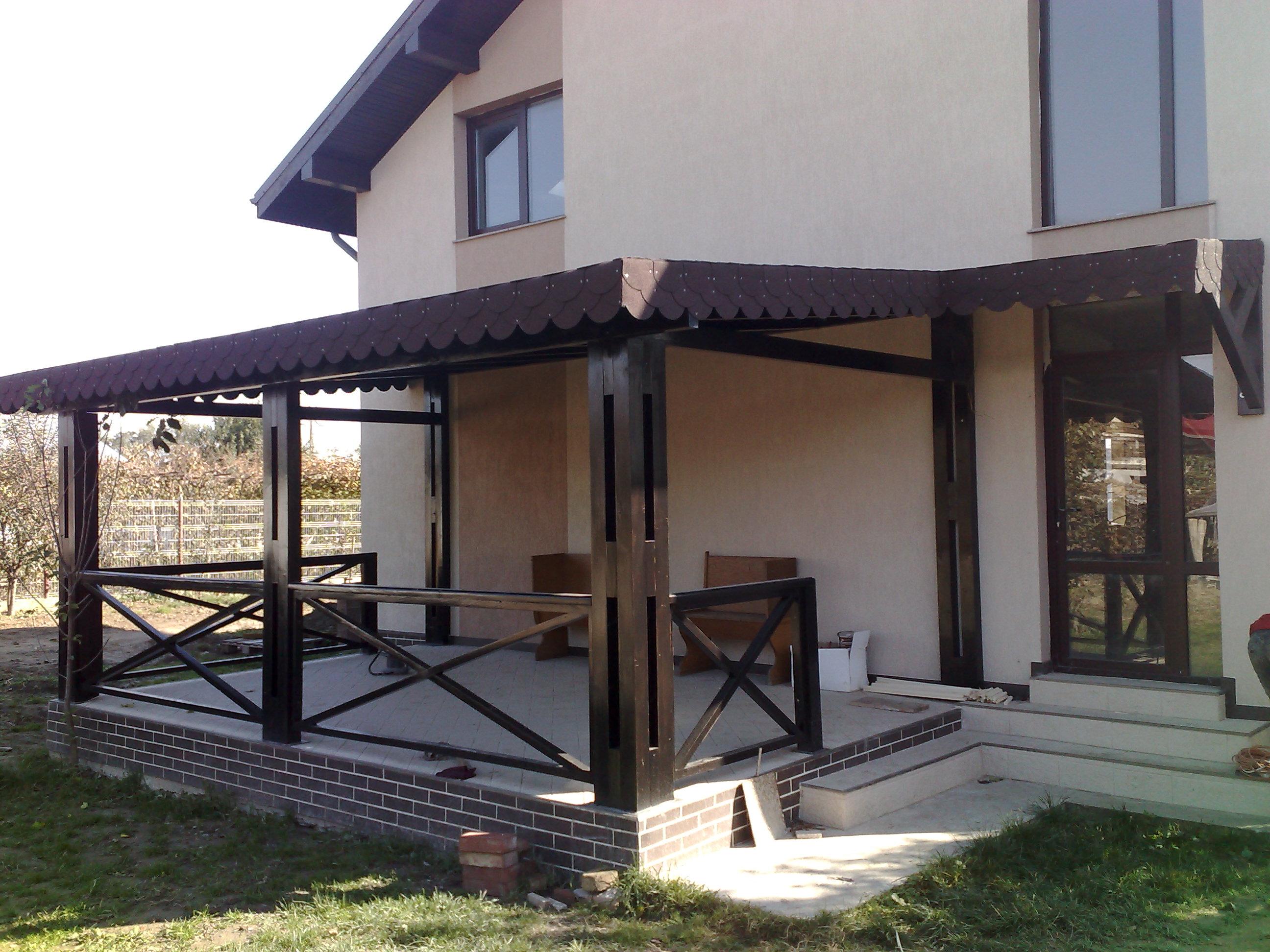 Mobila pentru bucataria terase exterioare din lemn for Modele de garduri pentru case