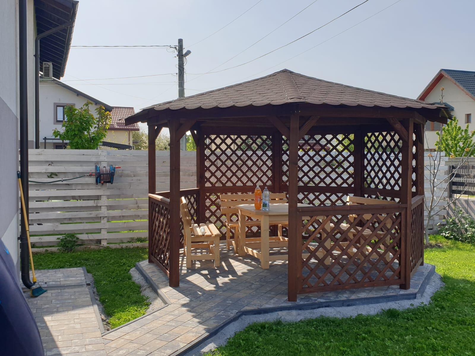 Foișor De Grădină 0006 Hexagonal Foisoare Garduri Terase Cabane Pergole